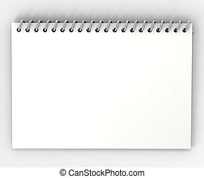 3d blank white form on white background