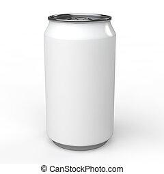3d blank white soda can mockup - 3d render of blank white...