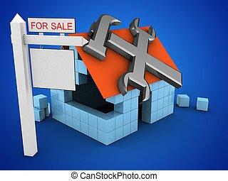 3d block house