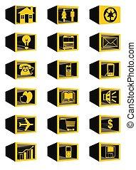 3D Block Web Icons