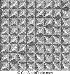 3d blocks structure background. Black and white grainy...