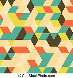 3d blocks structure background. Geometric pattern....