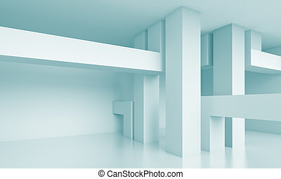Abstract Architecture Background - 3d Blue Abstract...
