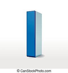 3d blue alphabet I