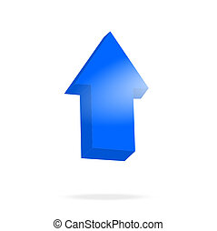 3d blue arrow and bright