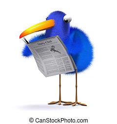 3d Blue bird news