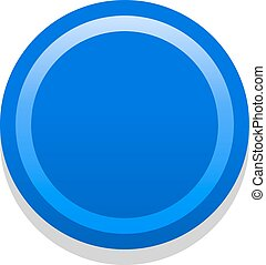 3D blue blank icon in flat style