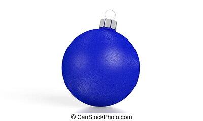3D blue Christmas bubble