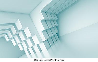 Creative Interior Concept - 3d Blue Creative Interior...