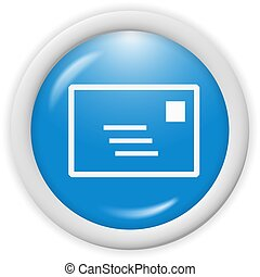 email icon - 3d blue email icon sign - web design ...