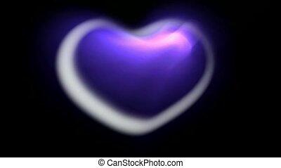 3d blue heart