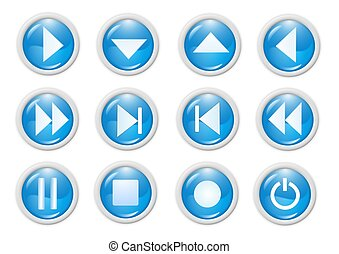 3d blue icon symbol - web design graphics