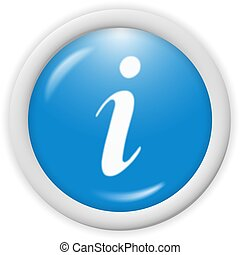 icon - 3d blue icon symbol - web design graphics