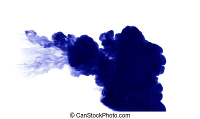 3d blue ink in water 11