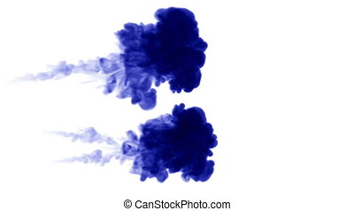 3d blue ink in water 12