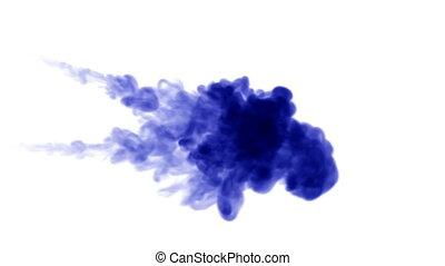 3d blue ink in water 13