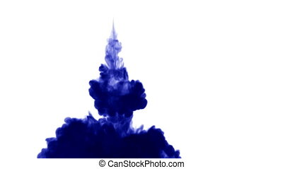 3d blue ink in water 27