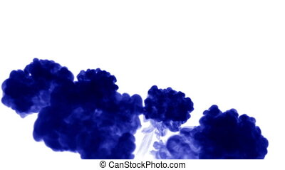 3d blue ink in water 8