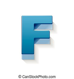 Abstract Letter F Logo - 3D Sphere Logo&quot- Stock image and royalty ...