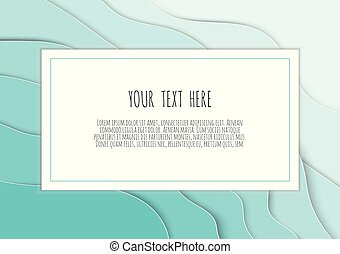 3D blue papercut layers vector background design. Paper cut style, space for text, vector illustration.
