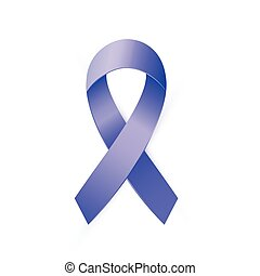 3d Blue ribbon to Colon Cancer and Colo-rectal Cancer Awareness month.