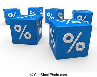 3d blue sale cube percentage