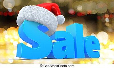 3d blue sale sign