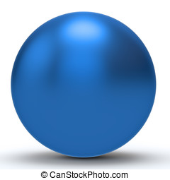 3d blue sphere