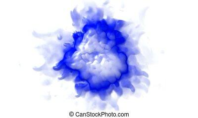 3d blue splash shape