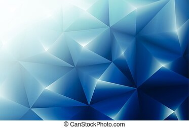 3d blue triangles background