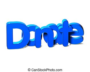 3D Blue Word Donate on white background