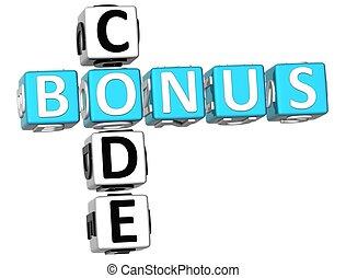 3D Bonus Code Crossword