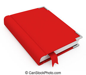 3d book with a blank cover