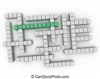 3d Bookkeeping Concept word cloud