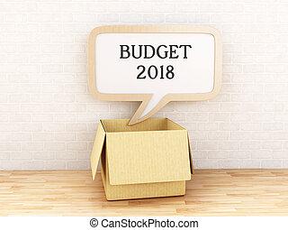 3d, borbulho fala, orçamento, 2018