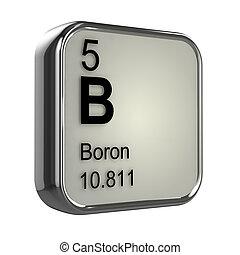 Ba render bario elemento qumico tabla peridica 3d 3d boron tabla peridica de elementos entrada urtaz Images