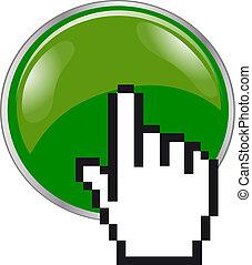 3d, botón, mousefinger