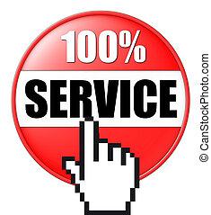 3d, botón, servicio