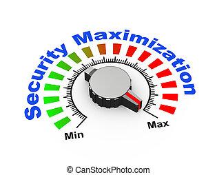 3d, bouton, -, sécurité, maximization