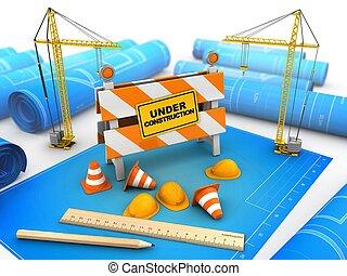 3d, bouwsector, stander, onder
