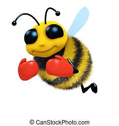 3d Boxer bee