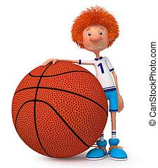 3d boy basketball player