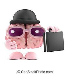 3d Brain businessman