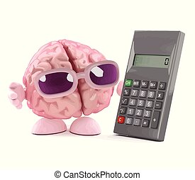 3d Brain calculates