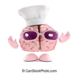 3d Brain chef