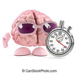 3d Brain race