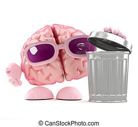3d Brain rubbish