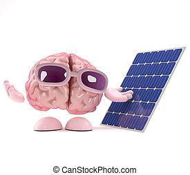 3d Brain uses solar power