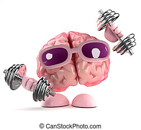 3d Brain works out