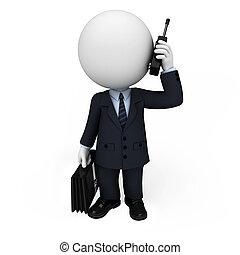 3d, branca, pessoas, como, homem negócio